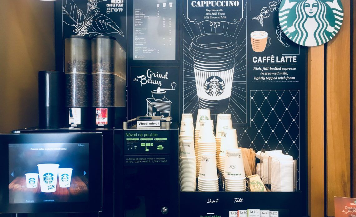 Starbucks in store AR experience