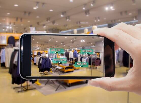 AR in store experience for retailers